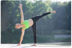 Halve maan - spierpijn na yoga