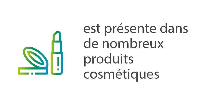 Présente dans les produits cosmétiques