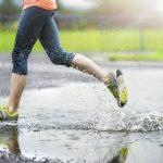 sporten in de regen