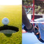 Sporten tegen stress: golf of padel